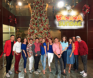 PHOTOS: Kulitan ng mga bida ng Banana Sundae sa #ThankYouForTheLove SID shoot