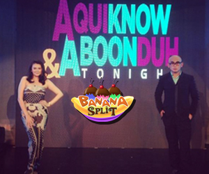 Banana Split stars Angelica and Jayson to play Krissy and Tito Vhoy in Aquiknow and Aboonduh Tonight